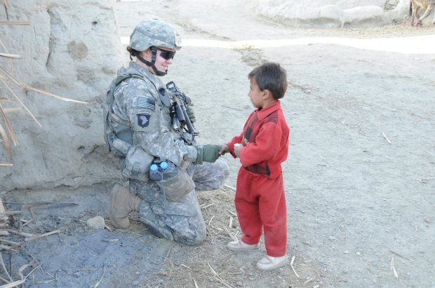 afghan boy get candy bar