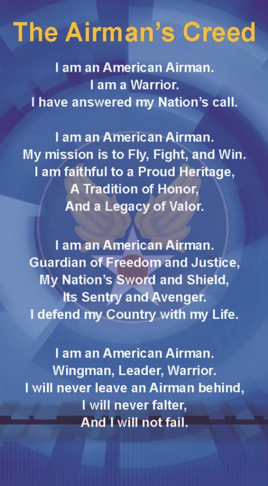 Airmans creed i heart america airmans creed altavistaventures Choice Image