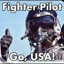 United States Air Force Fighter Pilot  He's a United States Air Force Fighter Pilot.  He's not lazily sitting back with his aircraft on auto pilot.  Breathing into his oxygen filled air-mask,  That keeps him stable.  He's been given a task.  A duty for the United States of America, his country,  One that he doesn't take lightly,  He stays focused.  And alert at all times,  With flash thoughts of his favorite girl,  He knows he's helping to stabilize the world.  And arrives to his destiny on time,  To his comrades, his arrival is Knightly.  He's carrying air to air-missiles.  And ready for active combat.  In the sky he can flip and fly upside down,  Doing cartwheels in the sky.  He's a natural acrobat.  As a dragonfly is to the sky  He can flip, and nose dive.  While giving a high-five,  Boy, can that guy fly!  He's loaded and read to aim fire.  He quickly focuses in on his fast moving target.  And fires, dark gray smoke and fire are seen,  It's quite the scene.  As he flies into darkness,  He sees the enemy aircraft spiraling down.  Hitting the ground,  With flames and gray fiery smoke all around,  He knows his mission has been accomplished.  He's the United States Air Force Fighter Pilot.  An American Hero!