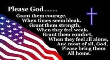 Flag with prayer