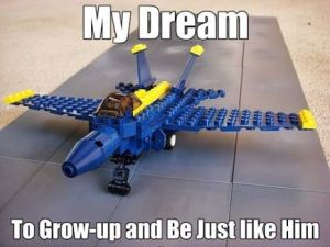 He wants to Grow-Up to Be a United States Navy Blue Angel