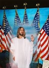 jesus and flags