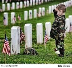 kid at grave