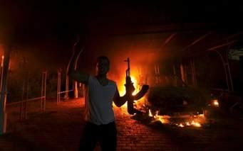 benghazi onfire