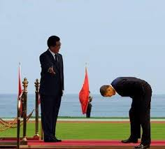 bow to china