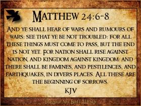 Matthew 24 6 8
