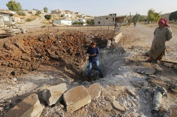 syria bomb effect