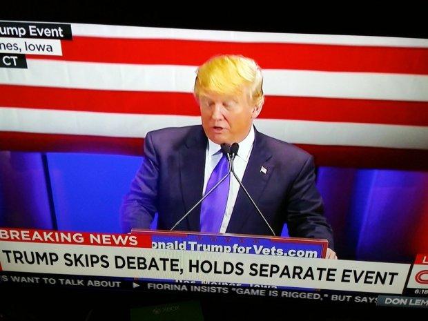 Trump skips debate