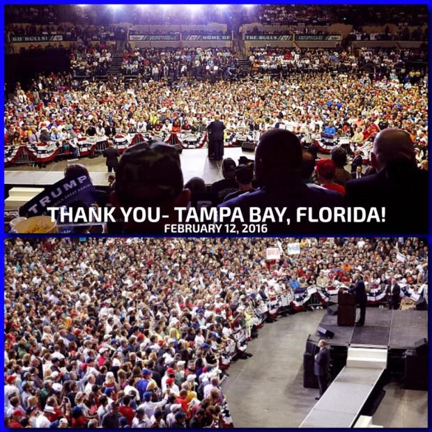 Trump Tampa Bay Florida Feb 12