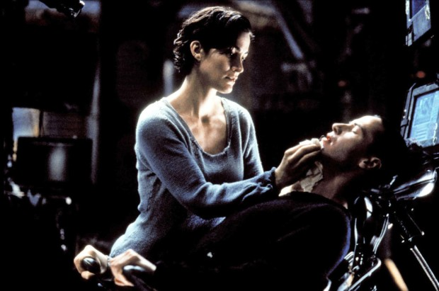 CARRIE-ANNE MOSS & KEANU REEVES THE MATRIX (1999)