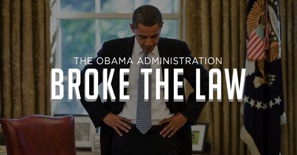 obama broke the law
