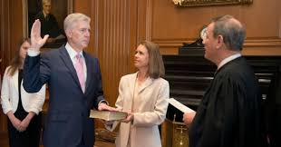Gorsuch swon in